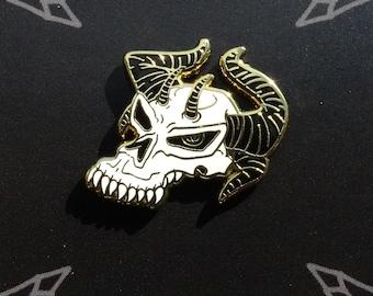 Demon Skull Enamel Pin