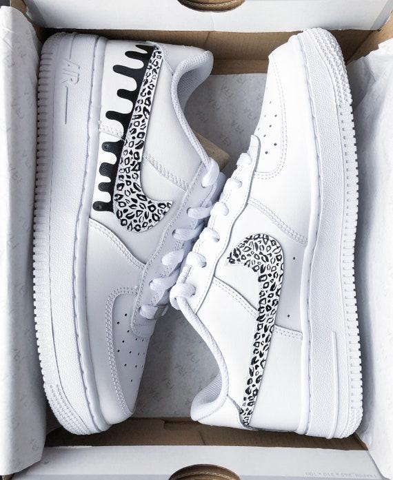 air force 1 white custom drip