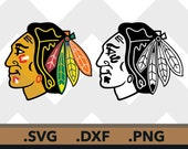 Chicago Blackhawks SVG Files, Chicago Blackhawks Cutting Files, Chicago Blackhawk DXF Cut File Chicago Blackhawks SVG Files Instant Download