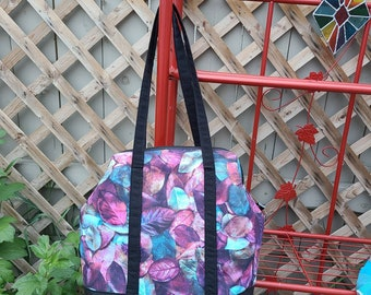 Leaves Jumbo size wire framed project bag