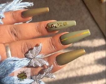 Olive Nails Etsy