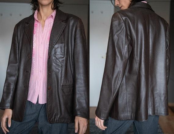 Vintage Brown Leather Jacket / 100% Real Leather B
