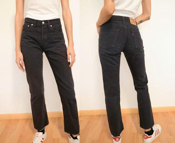 Black Vintage Levi's 501 Jeans / Faded Black 501 L