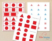 Printable Fractions and Not Fractions Cards - 74 cards, Introduction to Fractions, Halves, Thirds and Fourths
