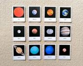 Editable Solar System 3 Part Cards & Quiz Cards - Dark Background, Printable