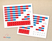 Printable Montessori Number Rods