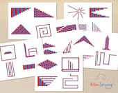 Printable Montessori Number Rods Pattern Cards