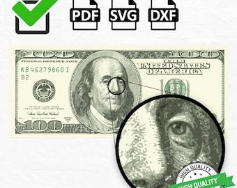 Money Svg (High Quality), Money Currency Svg, Money PDF SVG 100usd DXF Dollar