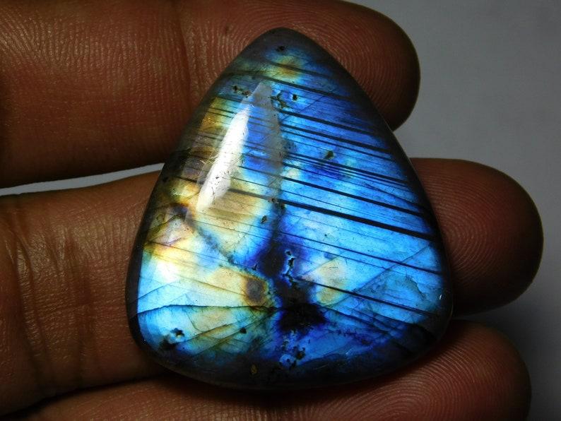 37X33 mm. Top quality Labradorite Gemstone 100/% Natural Labradorite cabochon loose stone very beautiful design cabochon 66Cts.