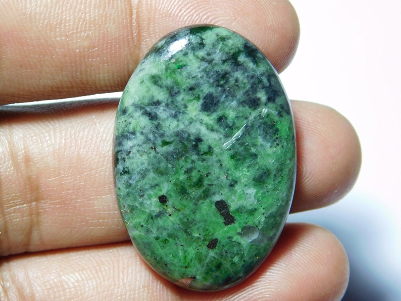Natural Diopside Cabochons,Top Quality Diopside Gemstone,Diopside Loose stone,Diopside semi precious,Diopside hand Polished 60Cts. MM 38X26