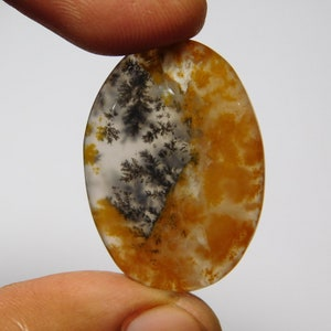 39Cts.41X27MM Dendritic Moss Agate Cabochons Top Quality Dendritic Moss Agate Gemstone Genuine Dendritic Moss Agate Loose Gemstone jewelry