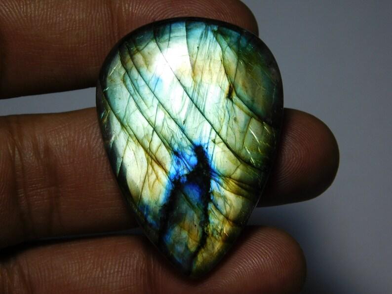 Top quality Labradorite Gemstone 100/% Natural Labradorite cabochon loose stone very beautiful design cabochon 84Cts. 43X30 mm.