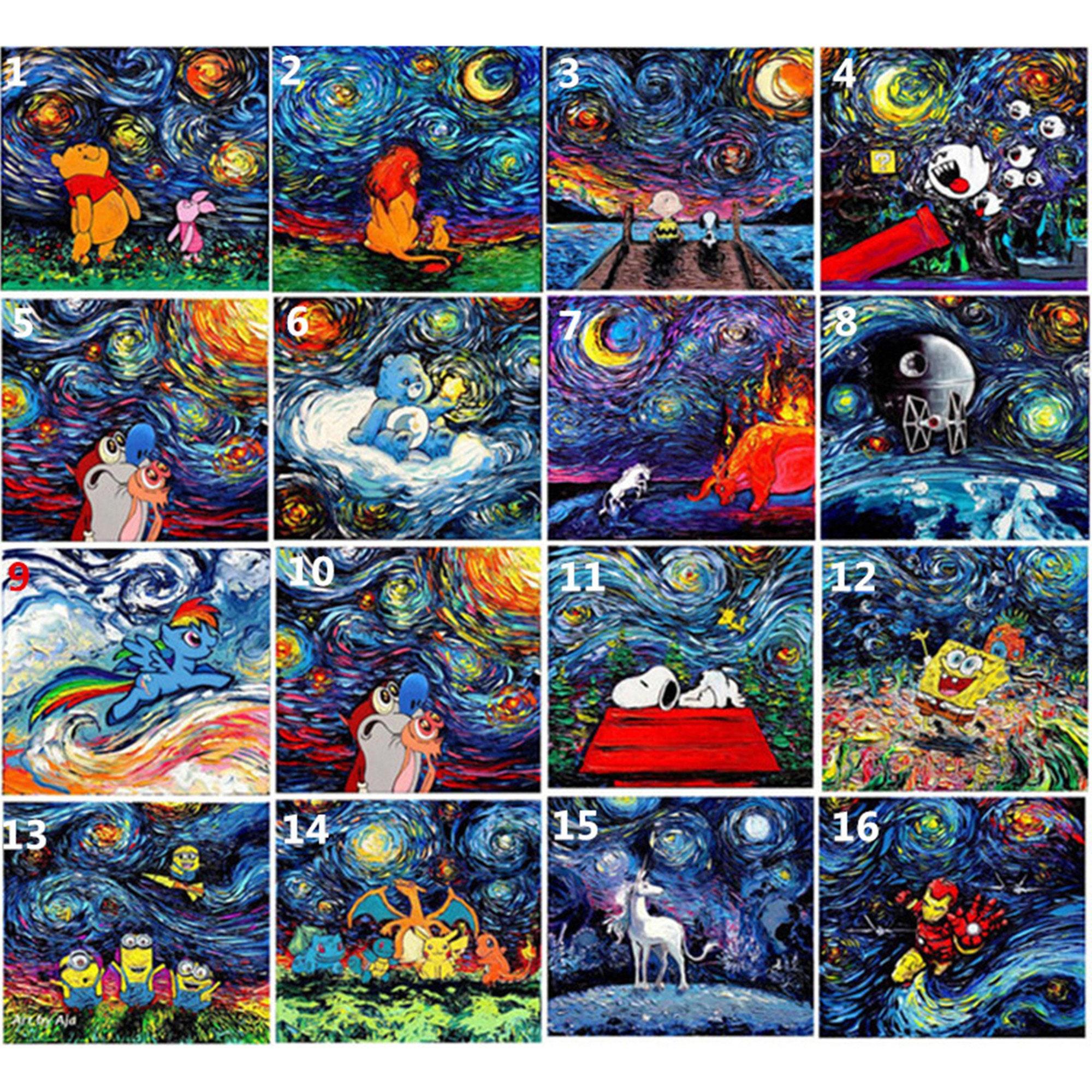 Moon Starry Full Drill 5D Diamond Painting DIY Cross Stitch Kits Home Mosaic Art