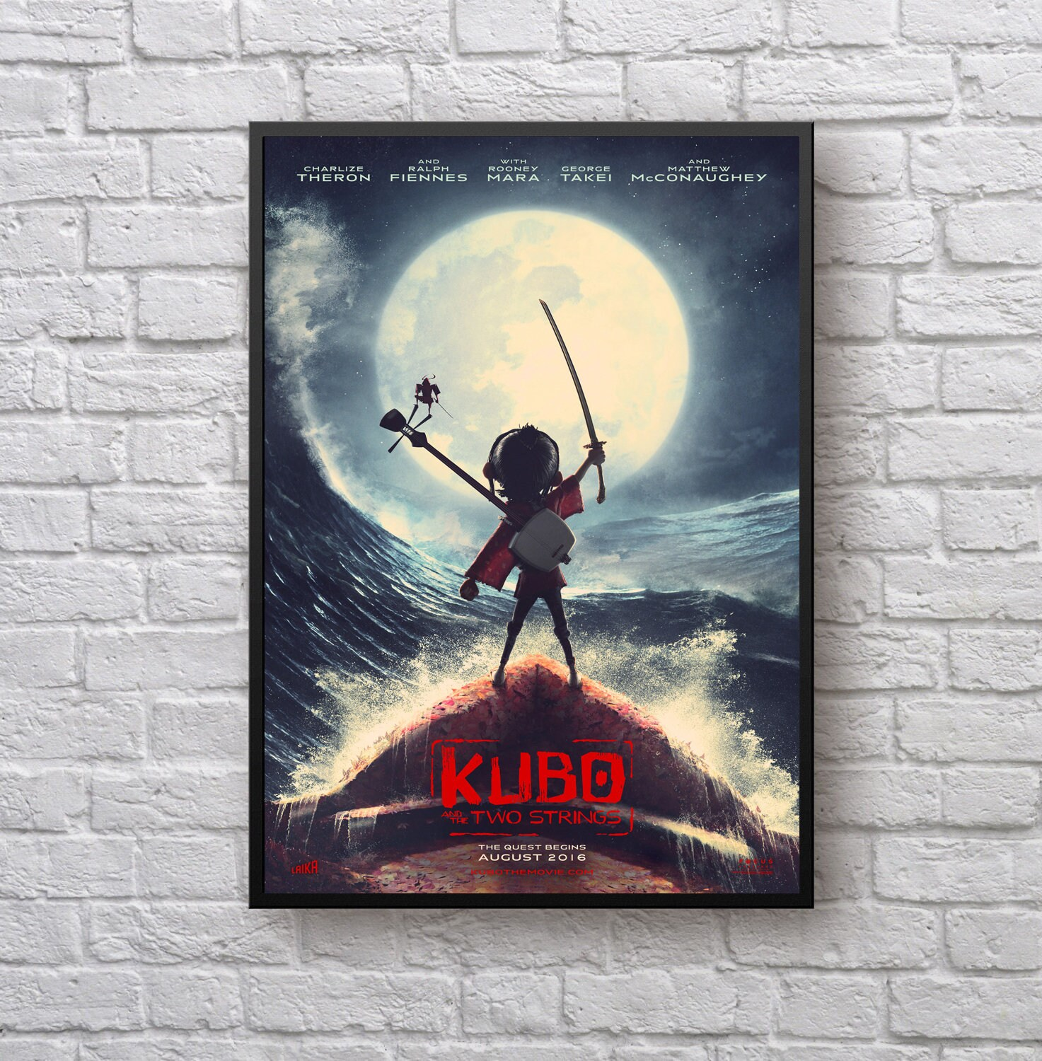 Kubo And The Two Strings Cover Wallpaper N Photo Poster Etsy