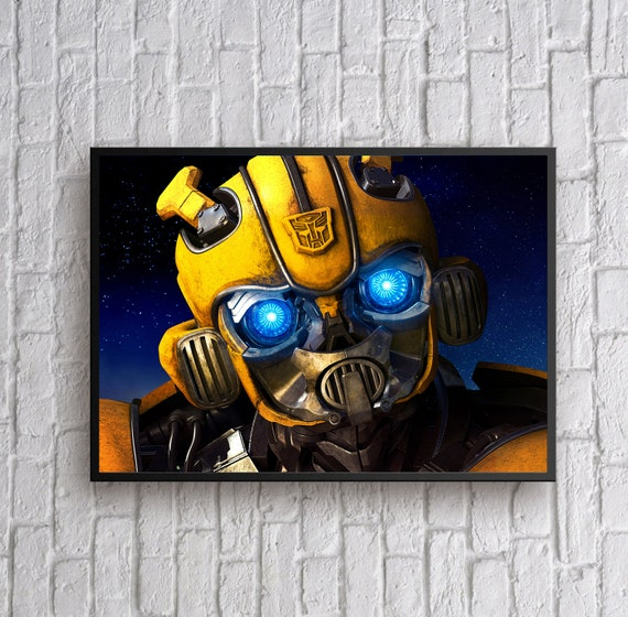 Bumblebee Transformers Movie Large CANVAS Art Print Giant A0 to Small A4