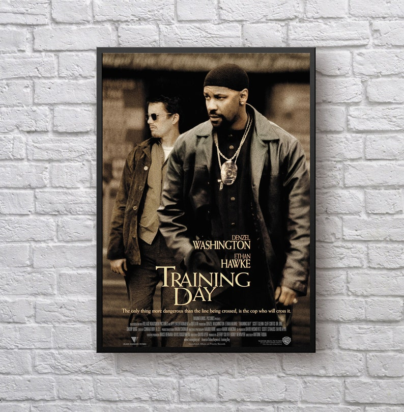 Training Day 2001 Movie cover poster | Etsy