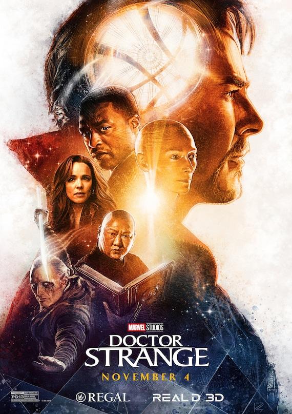 Poster A3 Doctor Strange Doctor Extraño Marvel Hero Cartel Decor Impresion 01
