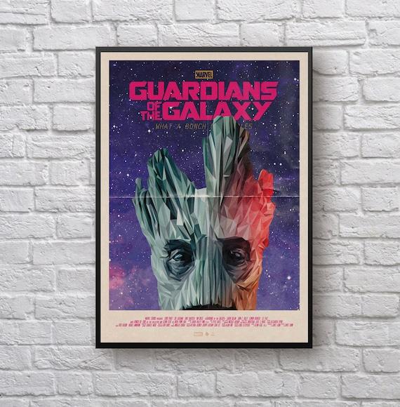Poster A3 Guardians of the Galaxy Rocket Gamora Star Lord Drax Yondu Marvel 04