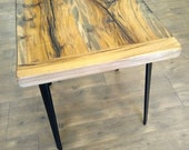 Jim Beam Wood Side table end table nightstand handmade table rustic table cabin furniture reclaimed wood table small handmade table