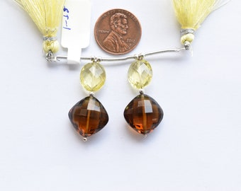 smokey quartz cognac citrine Multistone spectrolite moonstone rutile quartz freshwater pearl sterling silver broochpendant agate
