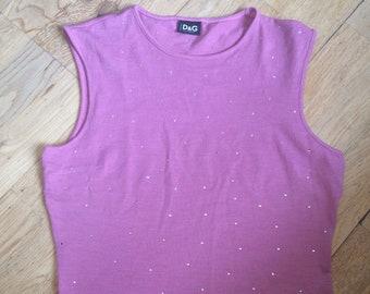 51267ac1d6 Pink Dolce and Gabbana Tank Top