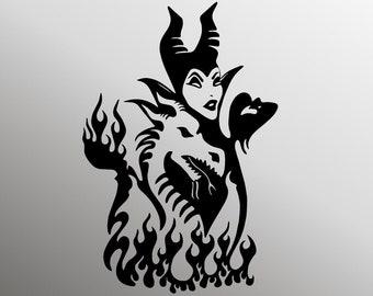 Maleficent Cut File Etsy