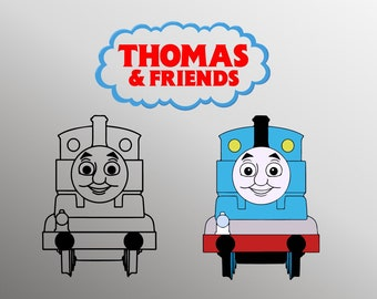 photo relating to Thomas and Friends Printable Faces named Thomas the practice svg Etsy