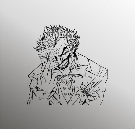 Joker Svg Joker Silhouette Dc Svg Clown Svg Villain Svg Etsy