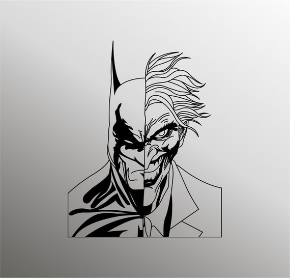 Batman Svg Joker Svg Batman Silhouette Superhero Svg Joker Etsy