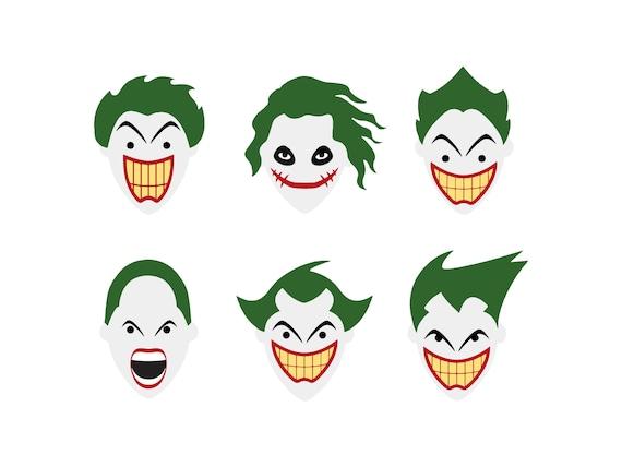 Joker Svg Joker Clipart Joker Bundle Joker Silhouette Dc Etsy