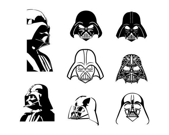 Star Wars Bundle Svg Darth Vader Svg Valentine/'s Day Svg Bow Tie Svg Flower Darth Vader Head Silhouette Funny Clipart Cut File For Cricut