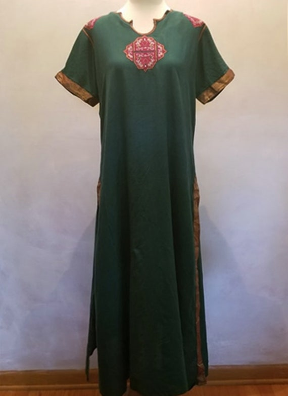 1970's Vintage Maxi Boho Dress