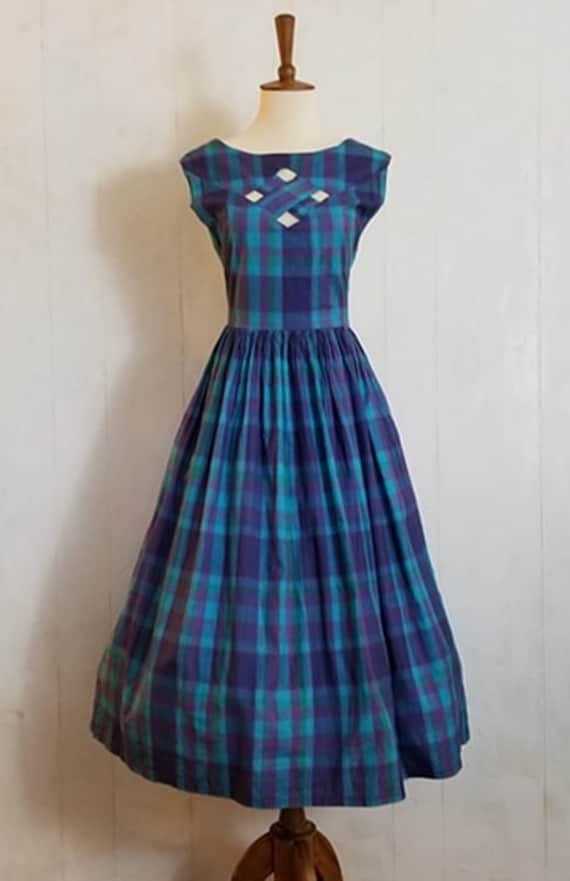 Vintage 1950 Rockabilly Daydress Strappy Back