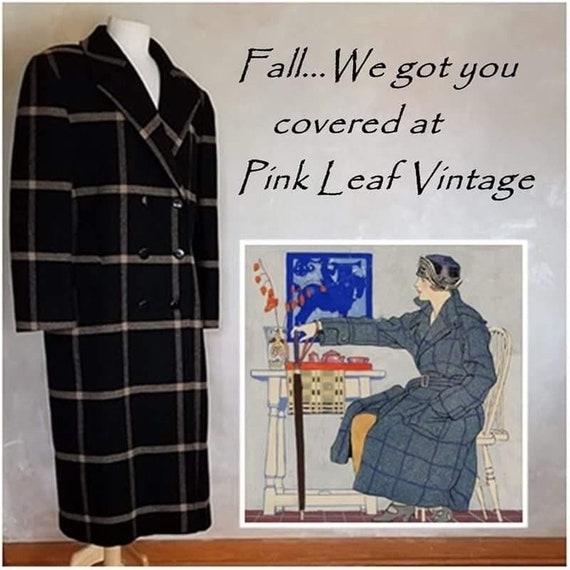 Vintage 1980 Pendelton Wool coat 1940 Style