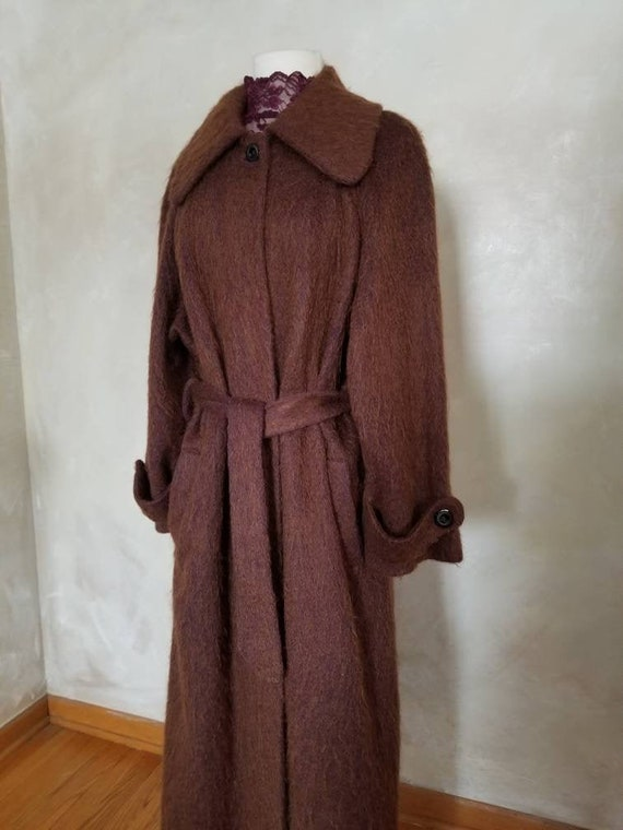 Vintage Coat/Mohair Coat/Womens Coat/1950 Vintage/