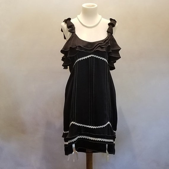 Vintage 1990's Black Silk Dinner Cocktail Dress