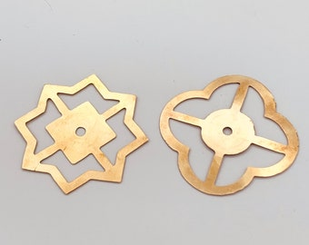 Brass Base Plate Clover or Star for Drawer Pulls, Clear Lucite Modern Cabinet Hardware Farmhouse Drawer Pull