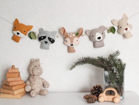 Woodland garland nursery decor Forest animals baby shower