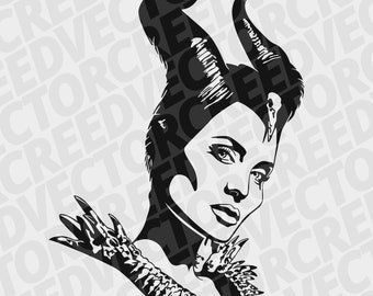 Maleficent Template Etsy
