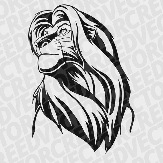 Simba Svg The Lion King Svg Simba Cutfile The Lion King Etsy