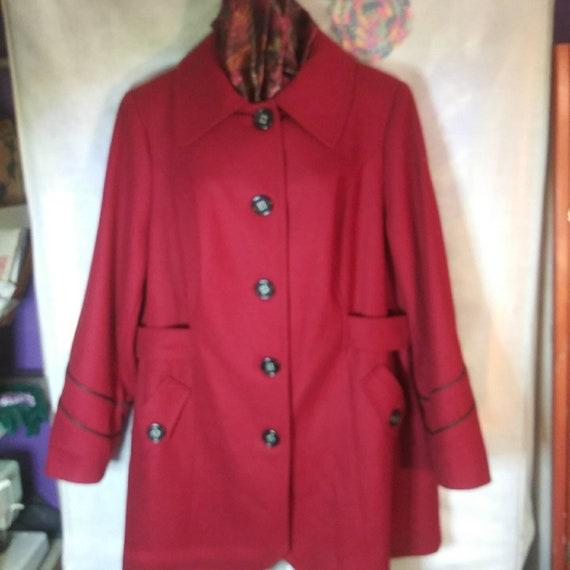 Vintage red Miss Sixty coat