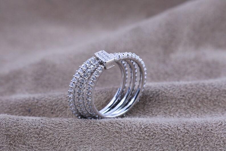 2.8 ct.tw 3 Eternity Ring-Brilliant Cut Deco\u00a0