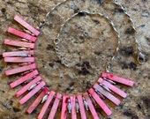 Pink Bar Necklace
