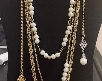 3e5a359199 Chanel Inspired Multi Strand Necklace