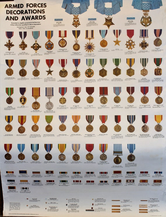 Vintage Recruiting Poster Armed Forces Decorations And Awards