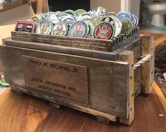 Original Ammo-Crate Coin Display