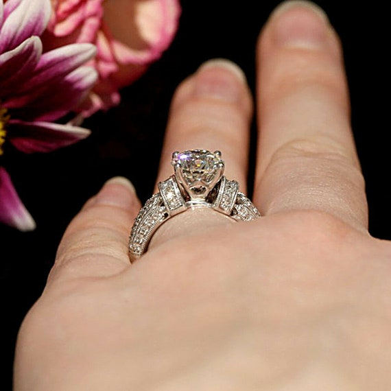 2.50 Carat Oval Cut Diamond Engagement Wedding Anniversary Ring 14K Gold Over