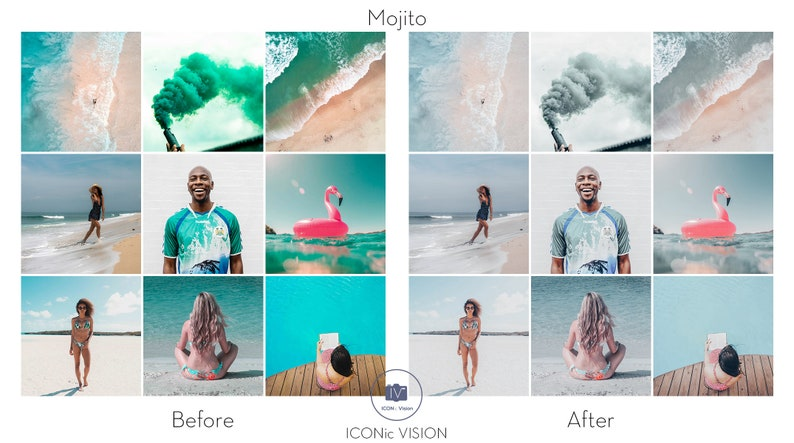 Mobile Lightroom Preset MOJITO Presets Summer Mobile Presets Mint Presets for Photos Editing