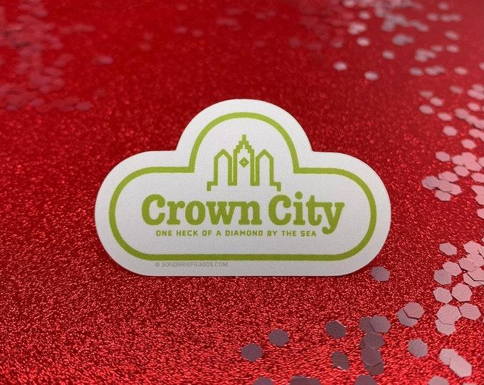 """Arthur PBS """"Crown City"""" Matte Finish Vinyl Die Cut Sticker"""