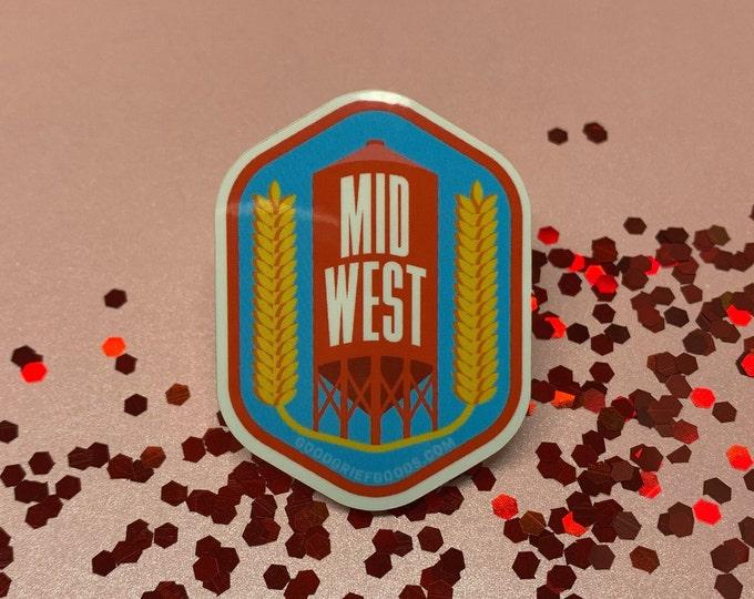 Midwest Proud Vinyl Die Cut Weather Resistant Sticker